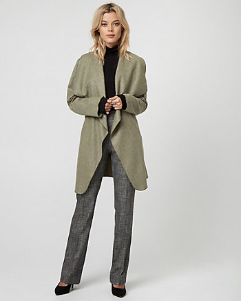 Italian Wool Blend Belted Wrap Coat