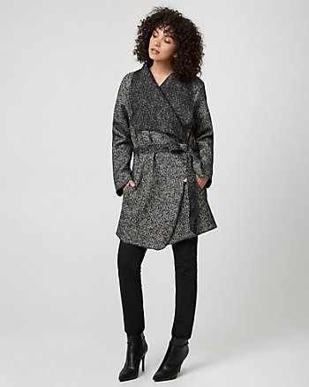 Italian Tweed Wrap Coat
