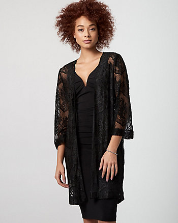 Lace Open-Front Cover Up