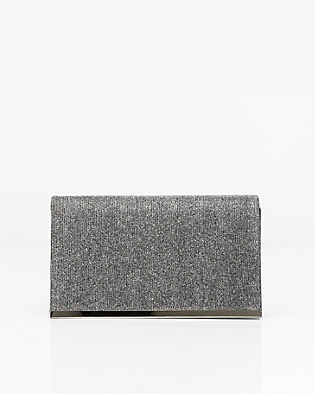 Metallic Flapover Clutch