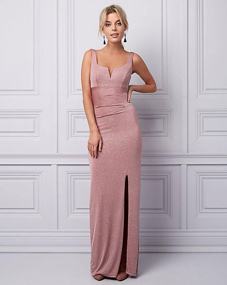 Deep V-Neck Gown