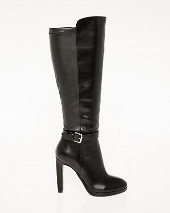 Almond Toe Knee-High Boot