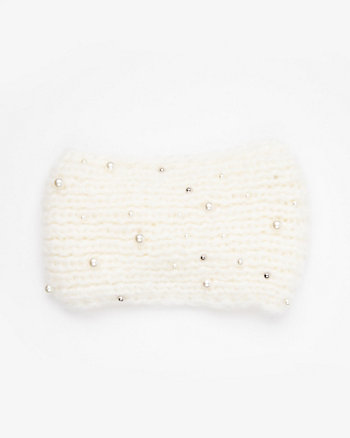 Embellished Knit Headband