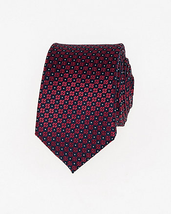 Diamond Print Silk Skinny Tie