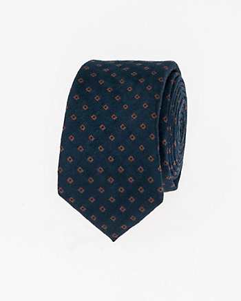 Diamond Print Viscose Blend Skinny Tie
