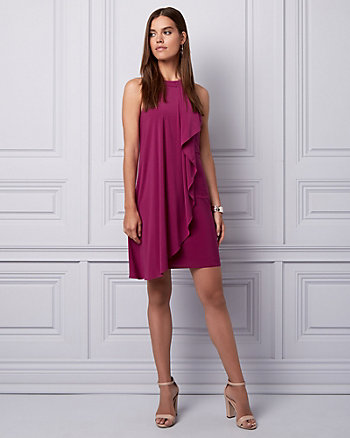 Knit Halter Ruffle Dress
