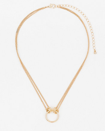 Etched Double Chain Necklace