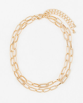 Metal Chain Collarbone Necklace