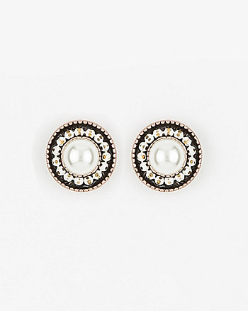 Pearl-Like Stud Earrings