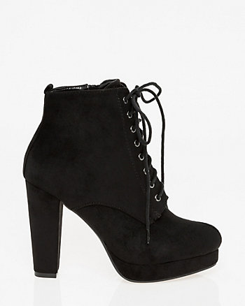 Lace-Up Platform Ankle Boot