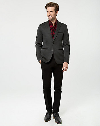 Textured Knit Slim Fit Blazer