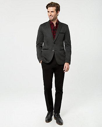 Textured Knit Slim Fit Blazer