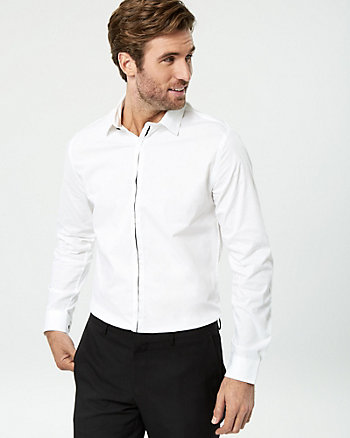 Stripe Cotton Poplin Slim Fit Shirt