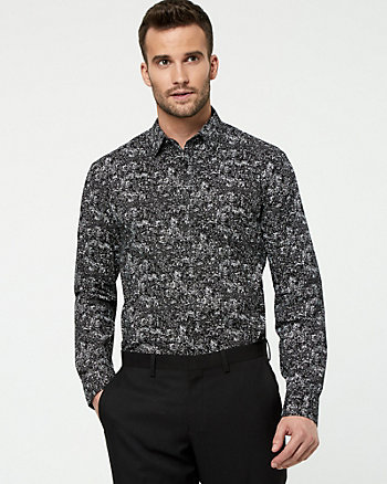 Novelty Print Cotton Tailored Fit Shirt