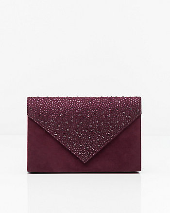 Jewel Embellished Envelope Clutch