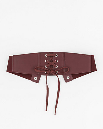 Leather-Like Corset Belt