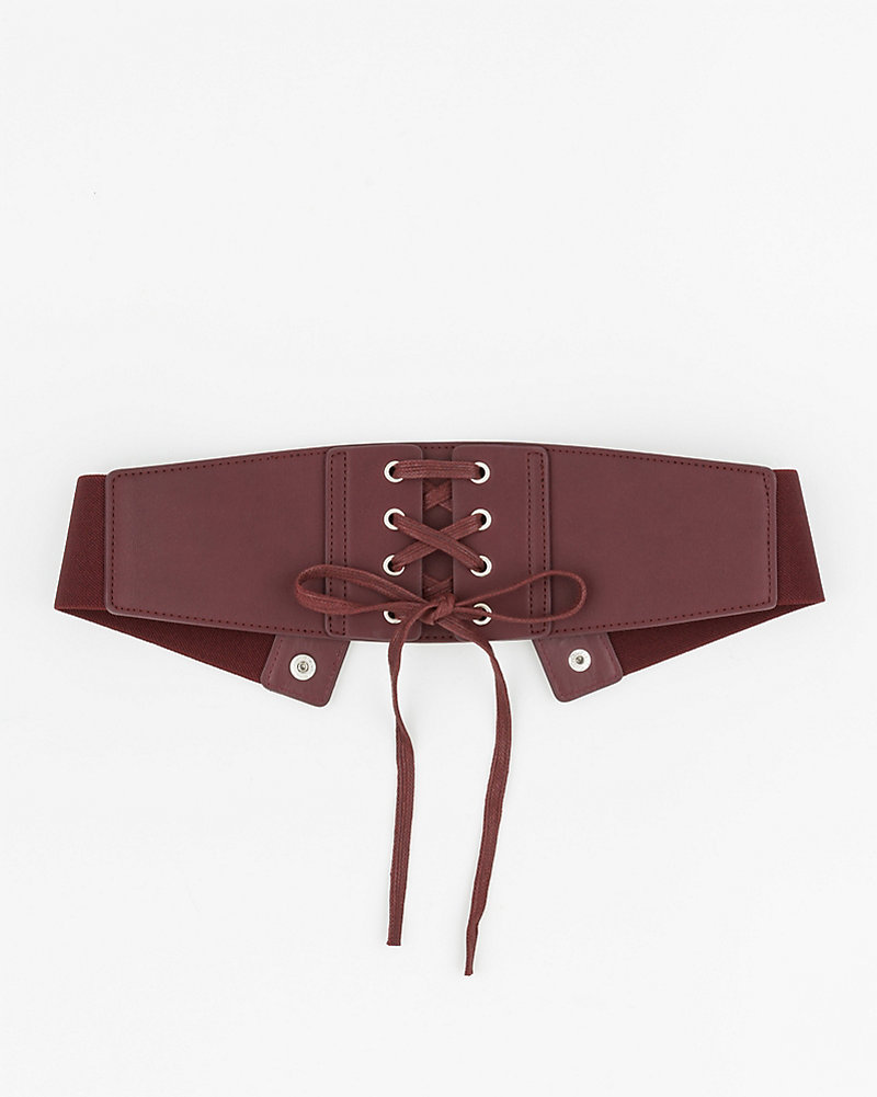 0f414f49b4 Leather-Like Corset Belt