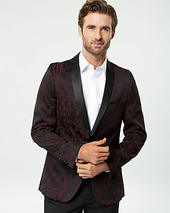Brocade Jacquard Slim Fit Blazer