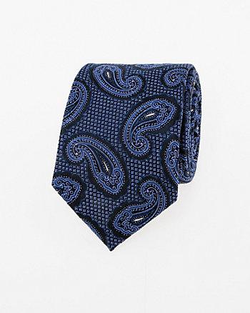 Paisley Print Silk Skinny Tie