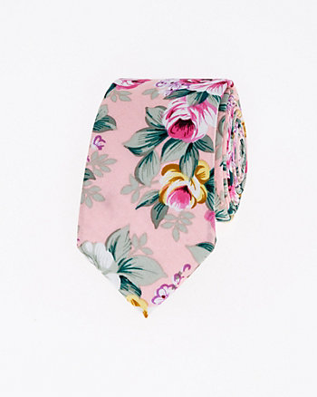 Floral Print Cotton Skinny Tie