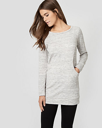 Cotton French Terry Tunic Top