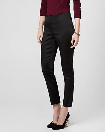 Stretch Satin Slim Leg Pant