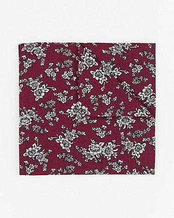 Floral Print Cotton Pocket Square