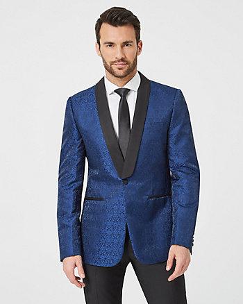 Tonal Jacquard Slim Fit Blazer