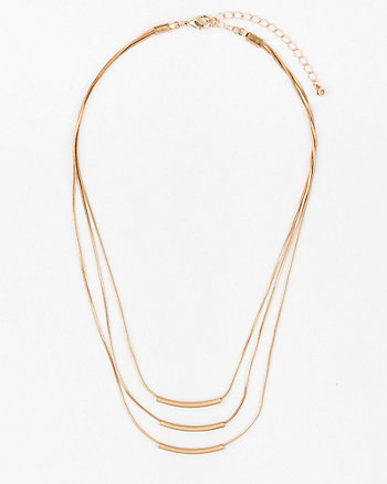 Multi-Row Snake Chain Necklace