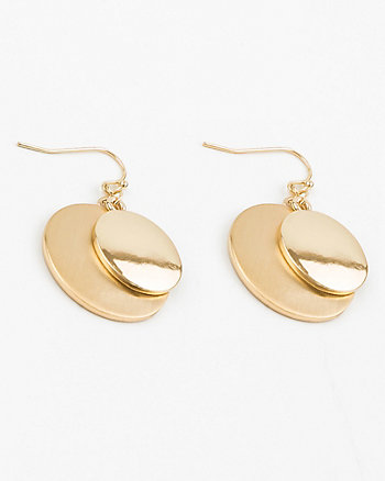 Brushed Circle Earrings