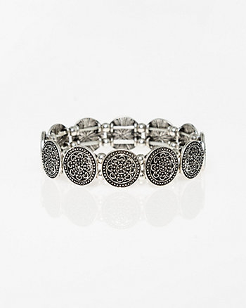 Metal Coin Stretch Bracelet