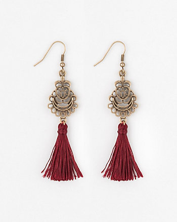 Filigree & Tassel Fringe Earrings