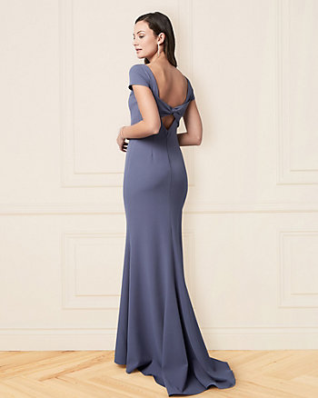 Twill Cutout Back Gown