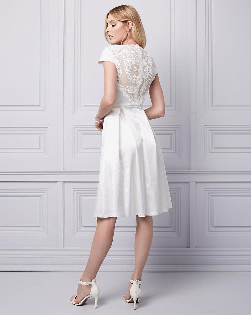 0a80716b87ee Sequin & Satin Fit & Flare Dress | LE CHÂTEAU