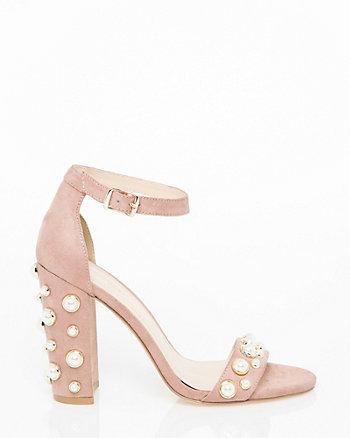Pearl Embellished Ankle Strap Sandal