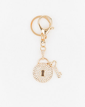 Lock-Shaped Bag Charm