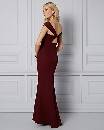 Knit Off-the-Shoulder Gown
