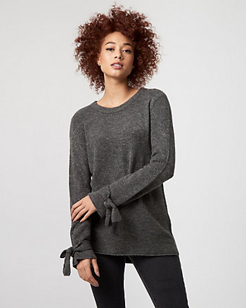 Brushed Viscose Scoop Neck Sweater