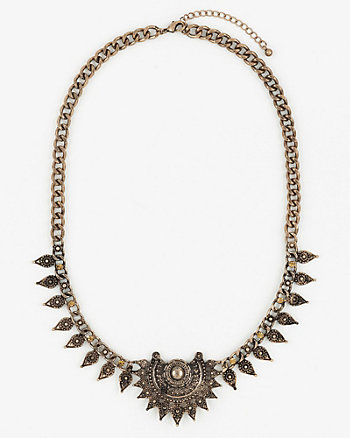 Gem & Metal Collarbone Necklace