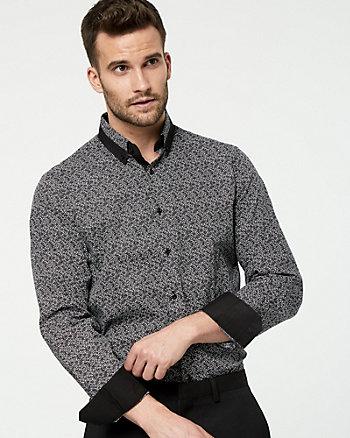 Novelty Print Cotton Athletic Fit Shirt
