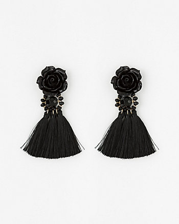 Tassel Fringe & Floral Earrings