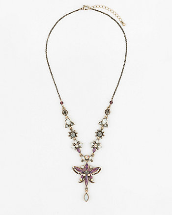Floral Gem Y-Necklace
