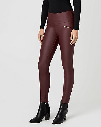 Wax Coated Tech Stretch Skinny Leg Pant