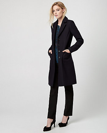 Melton Wool Notch Collar Coat