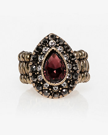 Gem Teardrop Stretch Ring