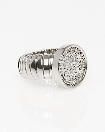 Metal Coin Stretch Ring