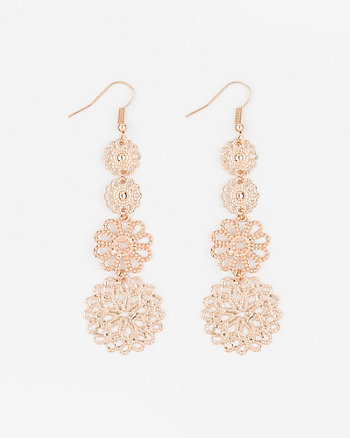 Filigree Linear-Drop Earrings
