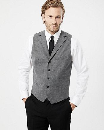 Wool Blend Contemporary Fit Vest