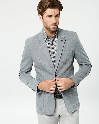 Knit Piqué Slim Fit Blazer