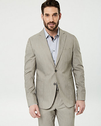 Cotton Blend Twill Contemporary Fit Blazer